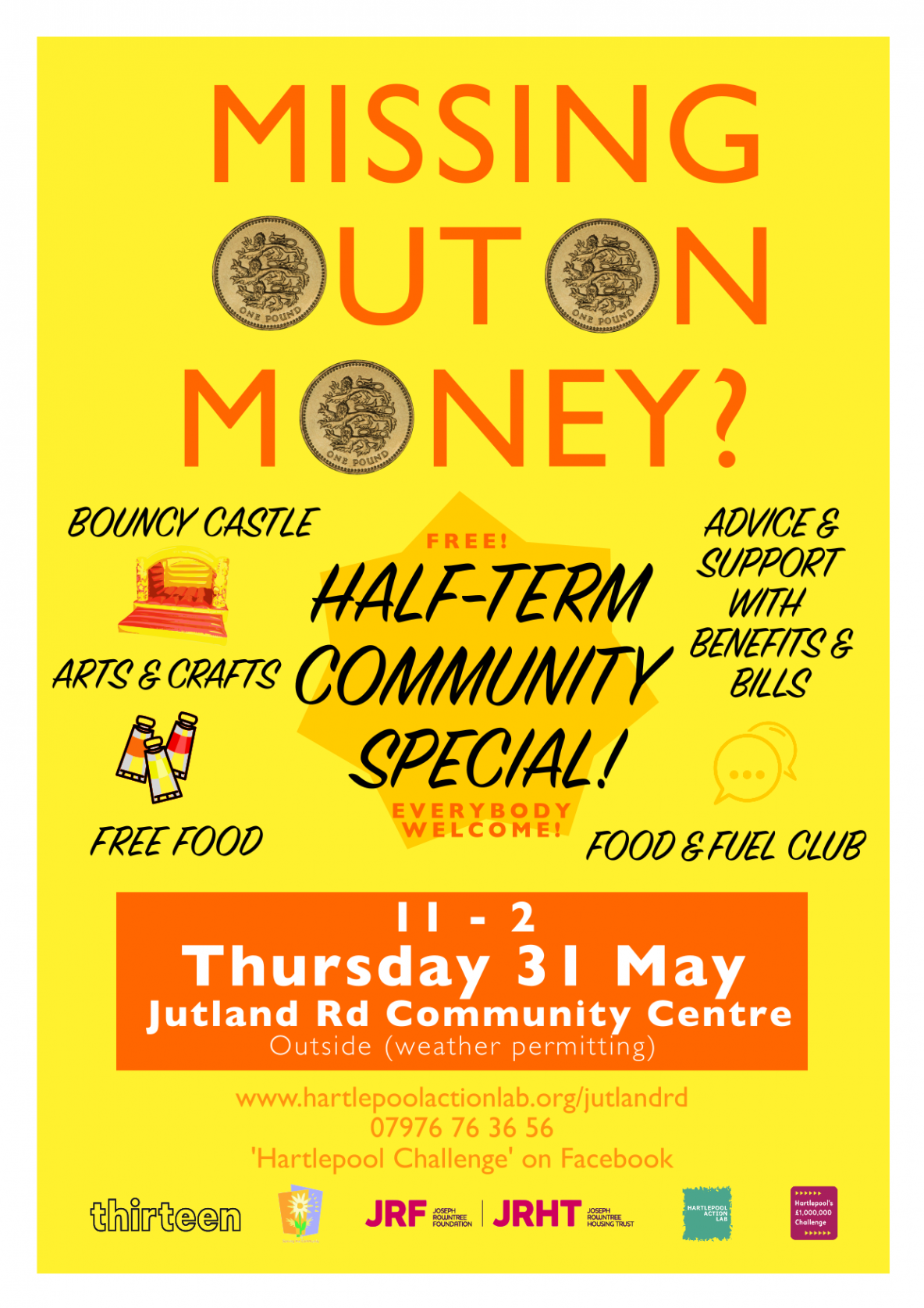 Missing Out on Money 31 May 11 - 2 Jutland Road Community Hub Hartlepool